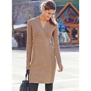 Athleta Chalet Camel Heather Sweater Dress